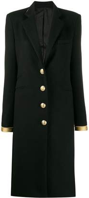 Paco Rabanne gold-tone trim coat