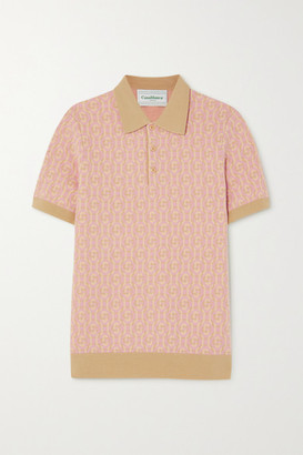 Casablanca Wool-jacquard Polo Shirt - Peach