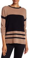 Cullen Cashmere Easy Colorblock Crewneck Sweater