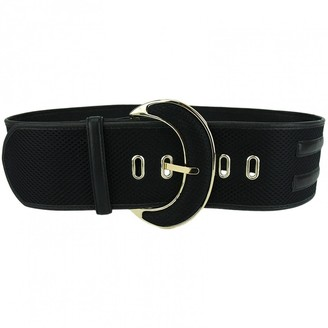 Diane von Furstenberg Black Leather Belts