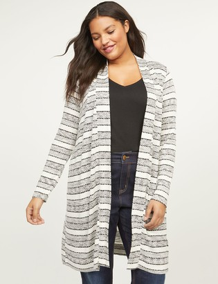 Lane Bryant Striped Duster Overpiece