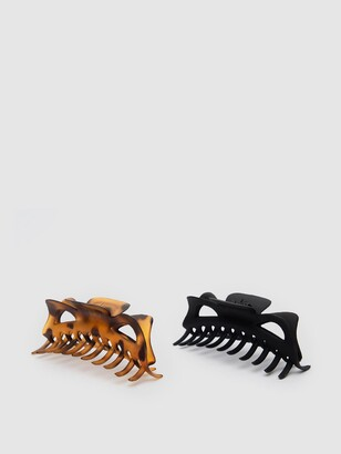 Kitsch Recycled Plastic Jumbo Classic Claw Clip Set 2 Pack Set