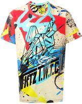 Kokon To Zai spray paint print T-shirt - men - Cotton - L