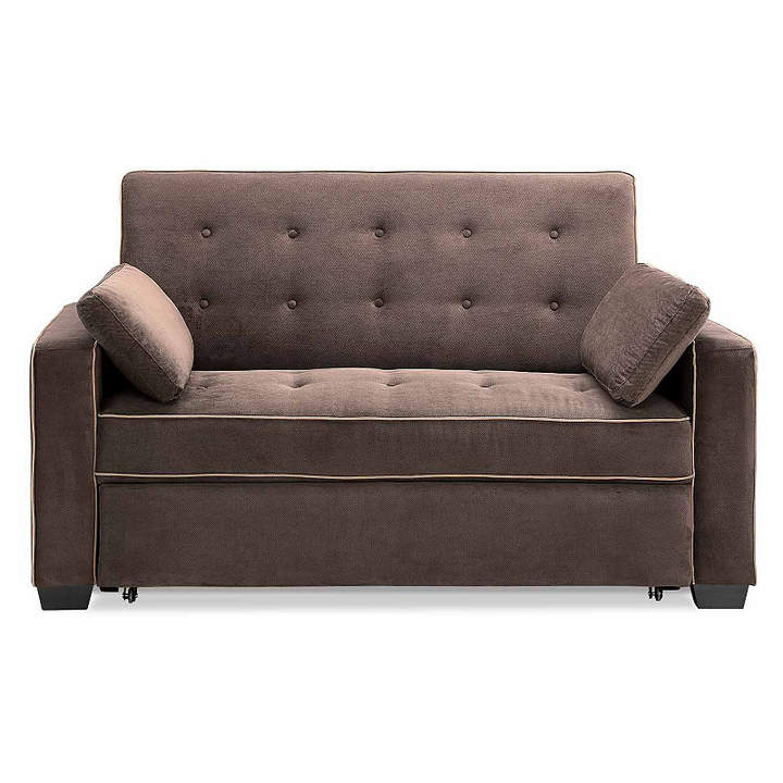 Asstd National Brand Serta Augustine Microfiber Track Arm Full Sleeper Sofa