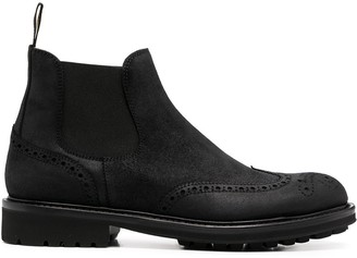 Doucal's Brogue Embellished Ankle Boots
