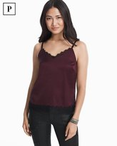 White House Black Market Petite Lace Trim Cami