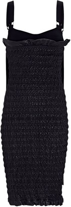 Proenza Schouler Smocked Leather Midi Dress