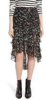 Veronica Beard Women's Cella Metallic Floral Print Midi Skirt