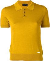 DSQUARED2 knitted polo shirt - women - Silk/Cotton - XS