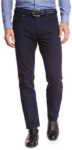 Ermenegildo Zegna Slim-Fit Straight-Leg Jeans, Navy