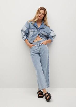 MANGO Crop wideleg jeans