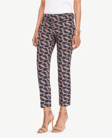 Ann Taylor The Tall Crop Pant in Leaf Swirl - Kate Fit