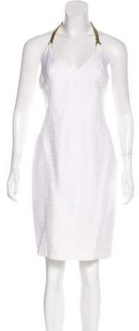 Versace Halter Knee-Length Dress