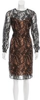 Carmen Marc Valvo Lace Midi Dress w/ Tags