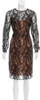 Carmen Marc Valvo Lace Midi Dress w/ Tags