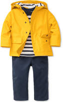 Little Me 3-Pc. Hooded Jacket, Striped T-Shirt & Pants Set, Baby Boys