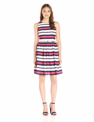 Eliza J Women's Stripe Fit and Flare