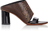Proenza Schouler Women's Fringed Stamped Leather Mules-TAN