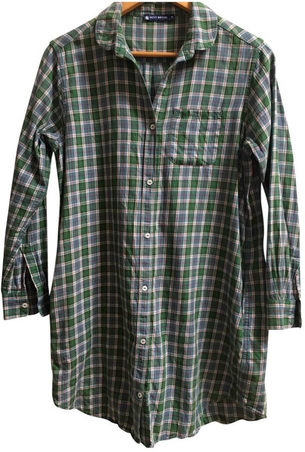 Petit Bateau Green Cotton Dress for Women