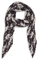 BP Women's Pleated Winter Floral Print Skinny Scarf