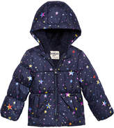 Osh Kosh Hooded Printed Puffer Coat, Little Girls (4-6X)