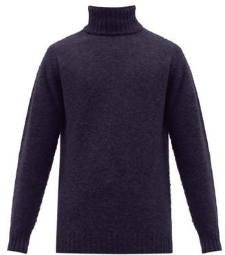 Howlin' - Sylvester Roll-neck Wool Sweater - Mens - Navy