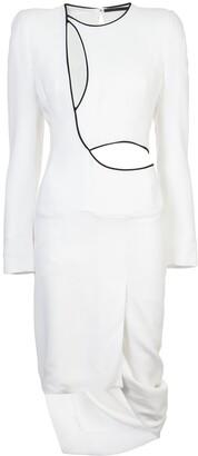 Haider Ackermann draped cutout dress