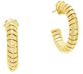 MARINA B 18K Yellow Gold Hoop Earrings