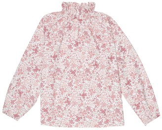 Il Gufo Liberty floral cotton top