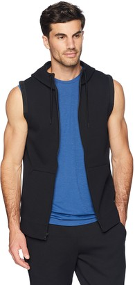 Peak Velocity Men's Metro Fleece Full-Zip Sleeveless Athletic-Fit Hoodie