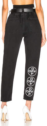 Off-White Off White EXCLUSIVE Slim Low Crotch Pants in Black   FWRD
