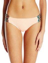 Reef Women's Bali Breeze Strap Side Bikini Bottom with Embroidered Strap