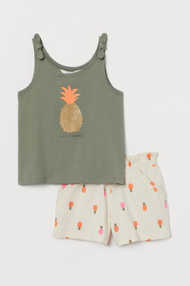H&M Tank Top and Shorts - Green