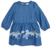 Stella McCartney Infant Girl's 'Nightsky Skippy' Embroidered Chambray Dress