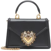 Dolce & Gabbana Devotion Small leather shoulder bag