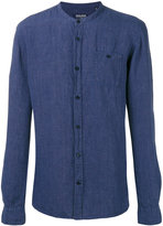 Woolrich Korean collar shirt - men - Linen/Flax - L
