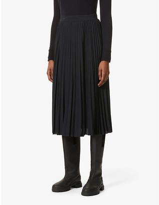 Sessun Nu Coleen pleated high-waisted woven midi skirt