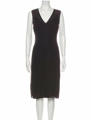 Dolce & Gabbana Vintage Midi Length Dress Brown