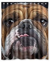 """Bulldog 60""""""""x72"""""""" Inches Shower Curtain New Waterproof Polyester Fabric Bath Curtain ( Shower Rings Included )"""