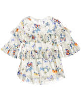Beautees Butterfly-Print Ruffled Top, Big Girls