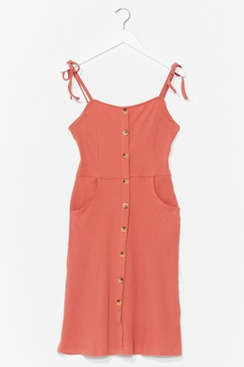 Nasty Gal Womens It's Got Pockets Button-Down Mini Dress - Rust