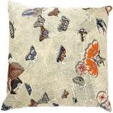 "Fornasetti Butterflies On Newspaper"" Pillow"
