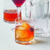 Sur La Table Diamond-Cut Double Old Fashioned Glasses, Set of 4