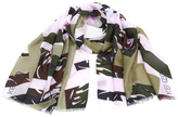 Kenzo Women's Seasonal Camo Plaid Scarf Light Pink