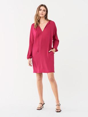 Diane von Furstenberg Jessica Stretch Georgette Mini Dress
