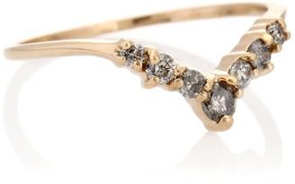 Anna Sheffield Celestine Tiara 14kt yellow gold ring with diamonds