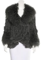 Dolce & Gabbana Wool Fur-Trimmed Cardigan
