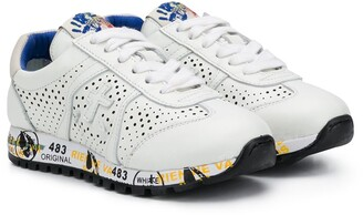 Premiata Kids Lucy-B perforated lace-up sneakers