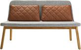 Houseology addinterior LEAN 2 Chair Grey - Natural Oak Legs - Cognac Cushions
