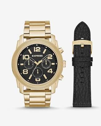 Express Oversized Rivington Multi-Function Watch Gift Set